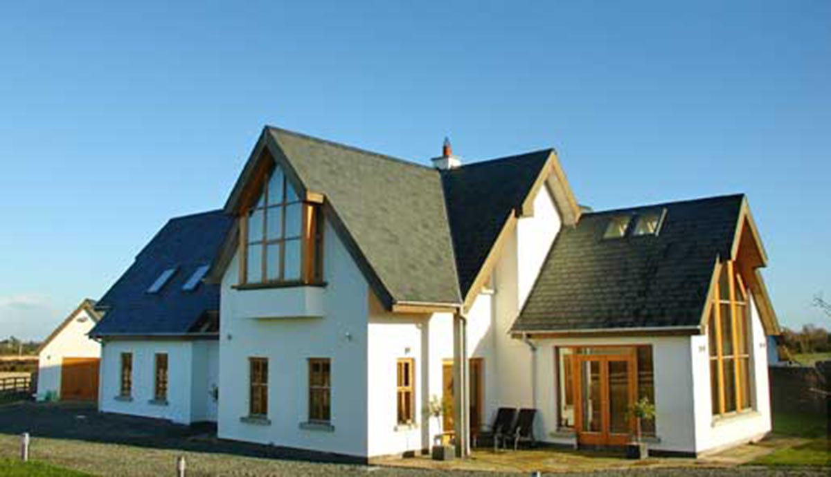 Self builds portfolio the timber frame company uk for Cheap modern home decor uk
